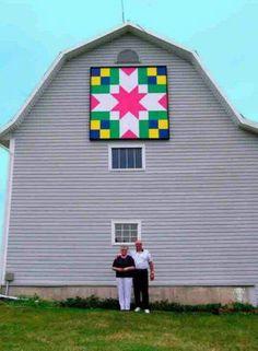 Pretty barn quilt