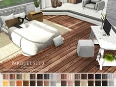Parquet Set 3 by Pralinesims at TSR via Sims 4 Updates