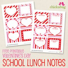 The free printable school lunch notes that I made awhile back are one of the most popular free printables I've designed – so I thought, why not make some just for Valentine's Day this year? You can send your little one to school with a ...