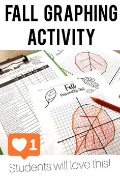 Students get practice plotting points on the coordinate plane with this fun printable middle school math activity for autumn! They take a personality test and then graph ordered pairs to reveal a mystery graphing picture of a leaf! First quadrant and all four quadrant versions make it great for 5th, 6th, 7th grade math students. Graphing Activities, Group Activities, Ticket Template Free, 7th Grade Math, Student Engagement, Plane, Middle School, Personality, Mystery