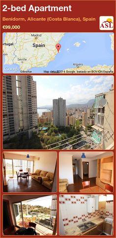 2-bed Apartment in Benidorm, Alicante (Costa Blanca), Spain ►€99,000 #PropertyForSaleInSpain