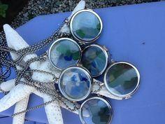 Seaglass lockets