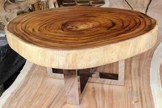 Reclaimed Wood Furniture, Rustic Furniture, Furniture Design, Bespoke Furniture, Solid Wood Table, Wood Tables, Tropical Furniture, Live Edge Furniture, Slab Table