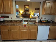Hereu0027s A Wide Shot Of My Freshly Finished Handpainted Faux Granite  Countertops. What Do You