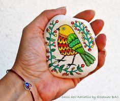 Today i finished second birdie <3 Like it ?  #paintedstones https://www.facebook.com/ISassiDelladriatico