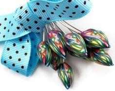 Handmade Polymer Clay Tulip Rainbow Flower Bud by StudioStJames