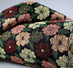 Jacquard woven fabric with flowers, fabric by the yard/half yard, european fabric