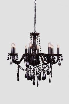 The Gothic Chandelier - Black