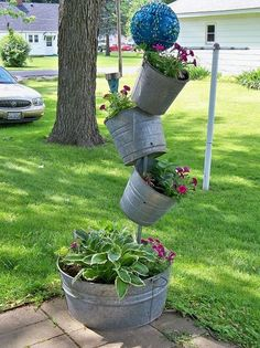 Craft a sparkling ball to make your tipsy planter tower even more terrific.