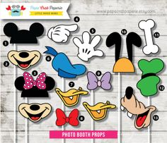 Instant Download / 37 Pieces Disney Inspired Photo Booth Props + 1 Photo Booth Sign