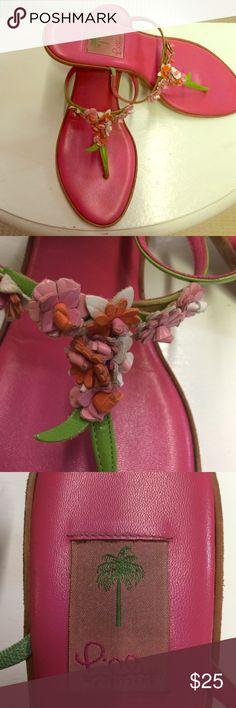 Lilly Pulitzer sandals Gently worn 2inch heel Lilly Pulitzer Shoes Sandals