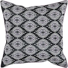 @Overstock.com - Decorative Vulcan 18-inch Pillow - This stylish square pillow has a bold black, white, and grey print. Use this 18-inch decorative pillow to match similar color schemes. It is also a terrific accent for contemporary decor or furnishings in almost any room of your home.   http://www.overstock.com/Home-Garden/Decorative-Vulcan-18-inch-Pillow/6641060/product.html?CID=214117 $23.21