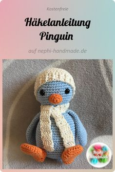 free crochet pattern penguin : Today is the Advent and I have come up with something special for you. Because I publish the instructions for my Winter Cal penguin from the beginning of # Häkelanleitung Crochet Gratis, Crochet Baby, Free Crochet, Crochet Top, How To Start Knitting, Learn To Crochet, Knitting Magazine, Crochet Instructions, Amigurumi Toys