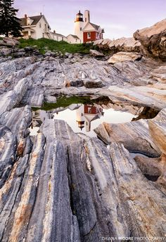 Pemaquid In Reflection Pemaquid Point Lighthouse Maine by Dawna Moore Photography – Honeymoon Inexpensive Vacations, Maine Lighthouses, Visit Maine, Am Meer, Travel Usa, Travel Tips, Travel Info, Travel Goals, Travel Destinations