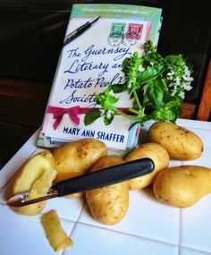 """""""The Guernsey Literary and Potato Peel Pie Society"""" by Mary Ann Shaffer.  A tremendous book recommended to me Michelle Steffes."""