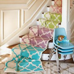 Kids' Rugs: Kids Green Woven Cotton Rug in Patterned Rugs from land of nod
