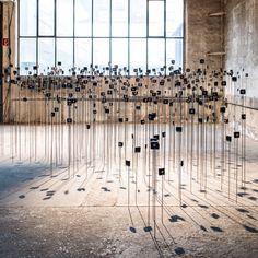schunck + dölker explore time through a giant array of quartz clock movements Sound Installation, Quartz Clock Movements, Sculpture, Photo Wall, Louvre, Museum, Explore, Gallery, Mixed Media