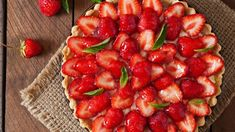 Tarte mascarpone aux fraises Cheesecakes, Deserts, Strawberry, Keto, Fruit, Health, Scones, Food, Tarts
