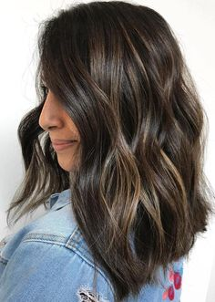 Shiny Brunette Hair with Blonde Babylights – My CMS Brown Ombre Hair, Brown Hair Balayage, Brown Blonde Hair, Brown Hair With Highlights, Brown Hair Colors, Brunette Hair, Dark Hair, Babylights Blonde, Fall Highlights