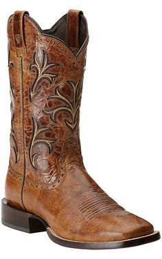 Ariat Cowboss Men's Wildhorse Tan Double Welt Square Toe Western Boot