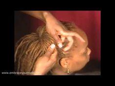 ▶ Hair Locking 102 : Dreadlock Bun Updo (www.embraceyourroots.net) - YouTube