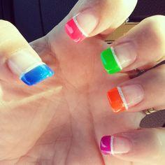 Summer nails #rainbow #pride