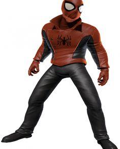 SPIDER MAN LAST STAND LEATHER JACKET Hero Spiderman, Superhero, Last Stand, Marvel Comics, Leather Pants, Celebs, Sleeves, Jackets, Black