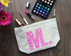 Personalised make up bag...  https://www.etsy.com/uk/listing/479839212/personalised-makeup-bag-with-typography?ref=shop_home_active_1