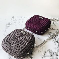 Square crochet clutch/ bag Gucci Soho Disco, Amigurumi, Strands, Modern, Amigurumi Patterns