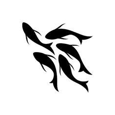 Swum Tattoo - Semi-Permanent Tattoos by inkbox™ Black Tattoos, Small Tattoos, Fish Tattoos, Dragon Tattoo Simple, Swimming Tattoo, Fish Outline, Tattoo Catalog, Henna Stencils, Create Your Own Tattoo