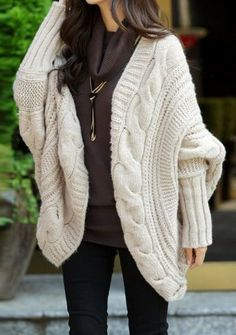 Chunky Bat Wing Cardigan