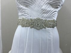 A personal favourite from my Etsy shop https://www.etsy.com/in-en/listing/400438623/bridal-sash