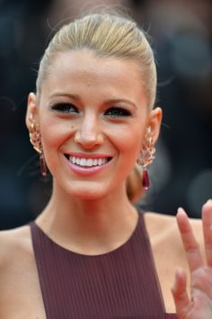 "CANNES, FRANCE - MAY 14:  Actress Blake Lively attends the Opening ceremony and the ""Grace of Monaco"" Premiere during the 67th Annual Cannes Film Festival on May 14, 2014 in Cannes, France.  (Photo by Michael Buckner/Getty Images for Variety)"