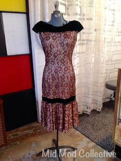 Vintage cocktail dress. Available now at Mid Mod Collective. Email midmodcollective@gmail.com for more info
