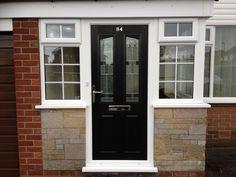 Porch With Composite Door Composite Door, Windows And Doors, Porch, Garage Doors, Outdoor Decor, House, Inspiration, Home Decor, Houses
