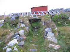 Entrance to Inuit Sod House, Nanortalik