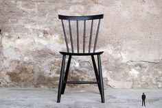 Lot de 8 chaises Tapiovaara vintage scandinave noir