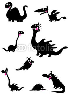 Funny Dinosaur Silhouettes