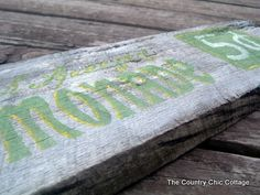 How to make your own barn wood style sign
