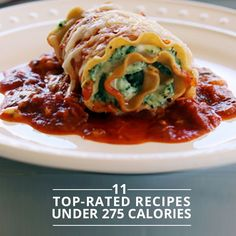 11 Top Rated Recipes Under 275 Calories! #topratedrecipes #cleaneating #healthyrecipes