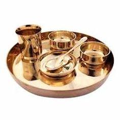 Viral Amitbhai Shah Ni Pedhi - Manufacturer \u0026 Supplier of Bronze kitchenware Utensils based in Ahmedabad India  sc 1 st  Pinterest & Indian Dinnerware Set Copper Stainless Steel Thali Plate Set ...