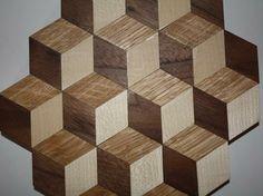 Beautiful Holzwandbild D optische T uschung Anleitung zum selber bauen