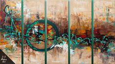 Tranquil City - Abstract Art Modern Painting by Sān Wǔ Modern Art