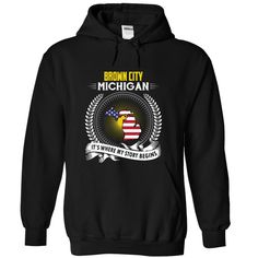 Born in BROWN CITY MICHIGAN T-Shirts, Hoodies. Check Price Now ==► https://www.sunfrog.com/States/Born-in-BROWN-CITY-2DMICHIGAN-V01-Black-Hoodie.html?id=41382