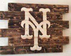 New York Mets Baseball Bat Coat and Hat Rack by ChicoLumberCompany