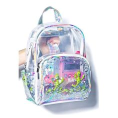 Teenage Dream Backpack (2.255 RUB) ❤ liked on Polyvore featuring bags, backpacks, clear backpacks, clear bags, pink clear backpacks, crystal clear bags and daypack bag