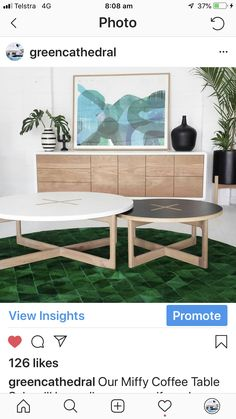 Green Cathedral Furniture  Miffy Coffee Table & Muku Credenza