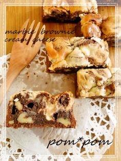 「【クルミ】クルミのマーブルブラウニー」ぽむさん | お菓子・パンのレシピや作り方【corecle*コレクル】