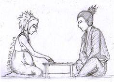 I think Temari is capable of playing shogi and defeating Shikamaru, occasionally. There was this Naruto game side quest where Naruto helped T. Shikamaru and Temari Preggy Moments 1 Naruhina, Anime Naruto, Naruto Shippuden, Anime Manga, Sasuke, Shikadai, Shikatema, Naruto Couples, Anime Couples