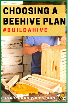 Before building your own beehive, you need to consider several bee hive plans.  Construction is easy but precise measurements are important.  #carolinahoneybees #buildahive #beehiveplans